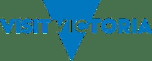 Visit Victoria Logo Blue pms 285 cmyk